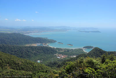 View looking south-east from Langkawi skybridge