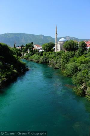 River Neretva and Karađoz Bey Mosque, Mostar