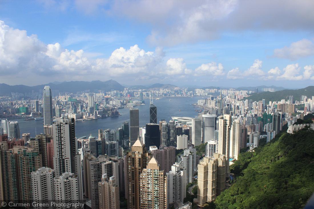 Victoria Peak looking down over Hong Kong