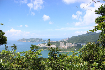 View from the Dragon's back hiking trail (Shek O) towards Stanley